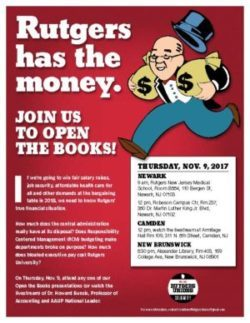 "<span class=""dquo"">""</span>Rutgers has the money"" Open the Books presentation"